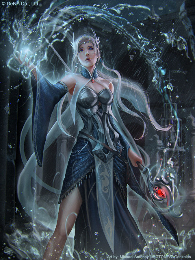 Water Mage Stage 3 (Super Rare) by mictones