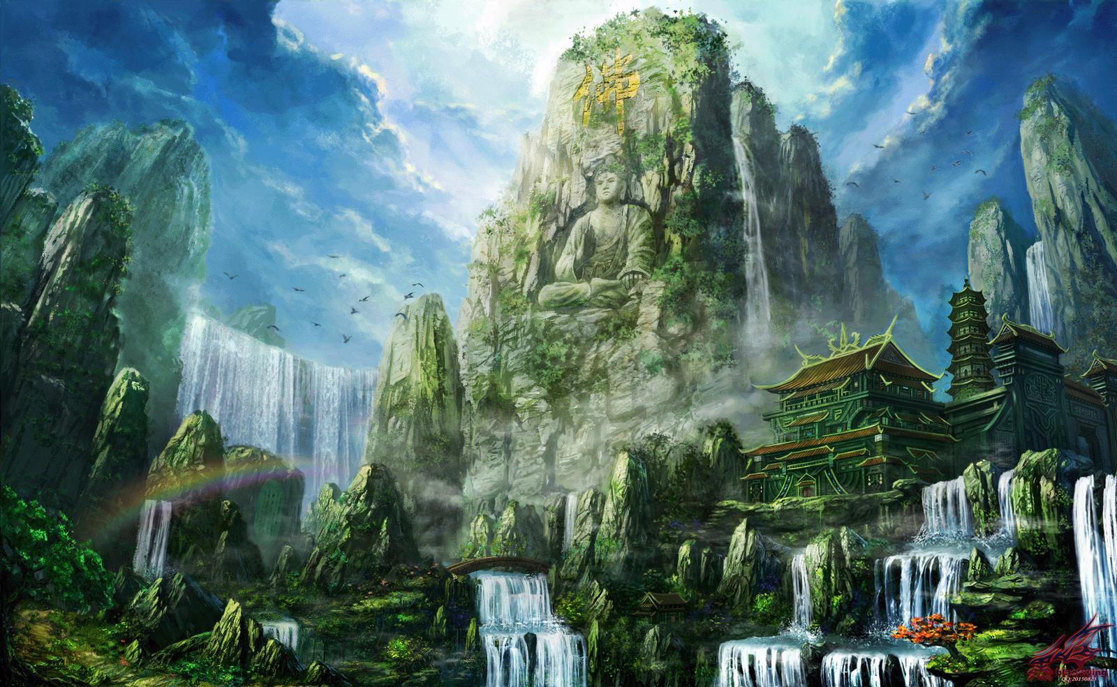 the Buddha  hill