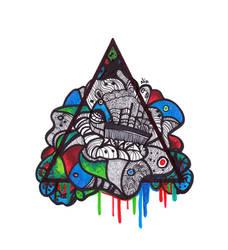 Psychedelic Prism by Nikolajeva