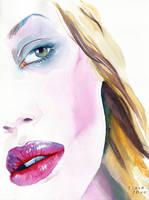 Crimson lipstick by Cora-Tiana