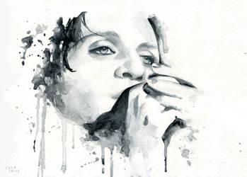 Brian Molko (Ashtray heart) by Cora-Tiana