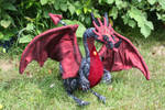 Cinder OOAK handmade poseable dragon FOR SALE