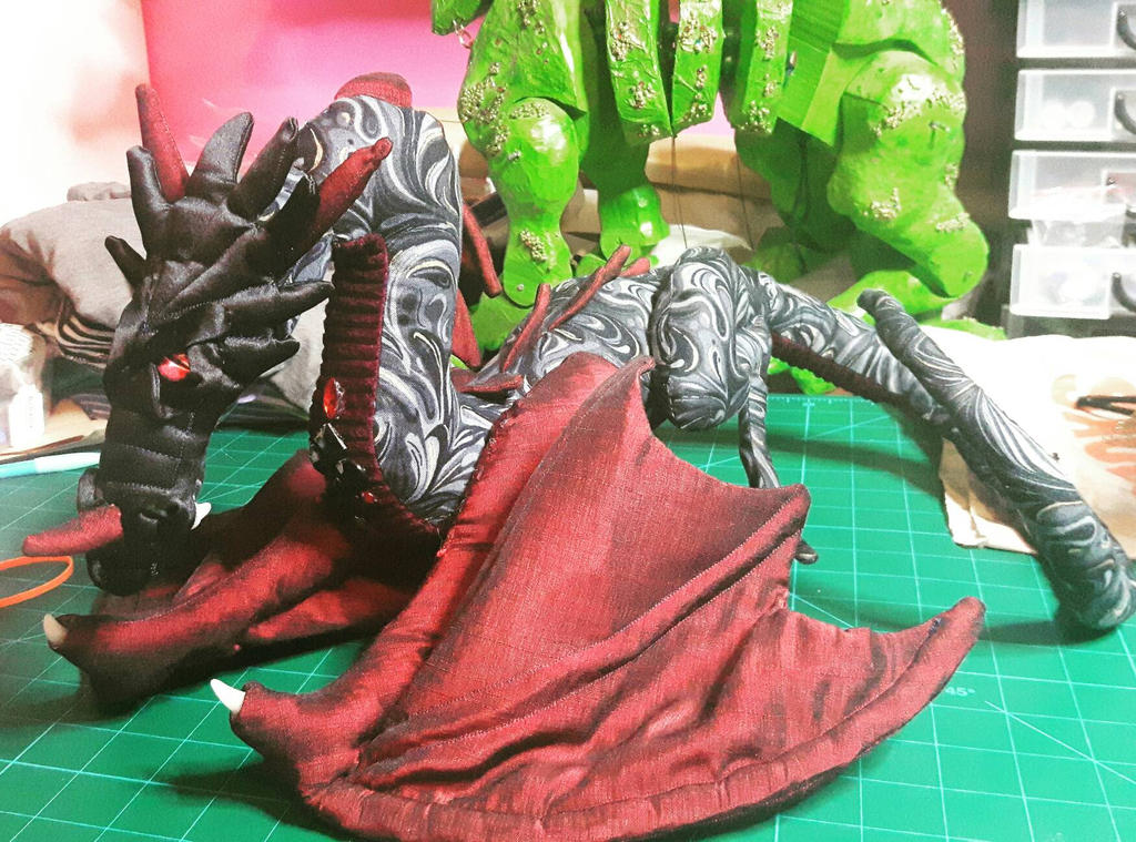 Drogon poseable, wearable art doll by DragonForge311088