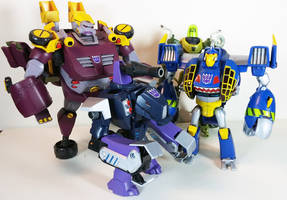 Transformers Animated Skybyte with Team Chaar 2.0 by BadLamprey