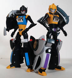 Transformers Animated Roulette and Shadow Striker
