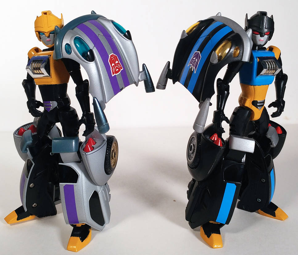 Transformers Animated Roulette and Shadow Striker by BadLamprey