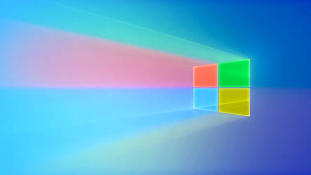 Windows 10: Refraction (19H1 Full Color Wallpaper) by xREAMED