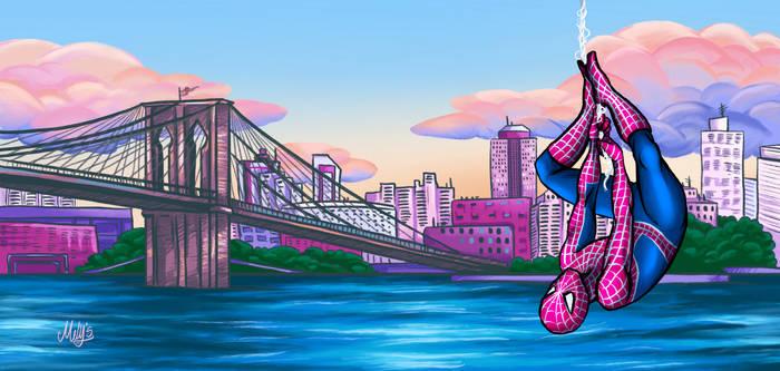 Spider Man over Brooklyn