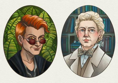 Good Omens Couple Portraits
