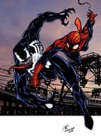spiderman vs Venom by mdavidct