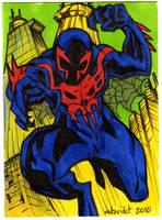 Sketch Cards Spiderman 2099 by mdavidct