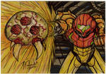 Samus Sketch card