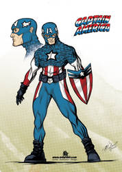 Captain America ReDesign by mdavidct