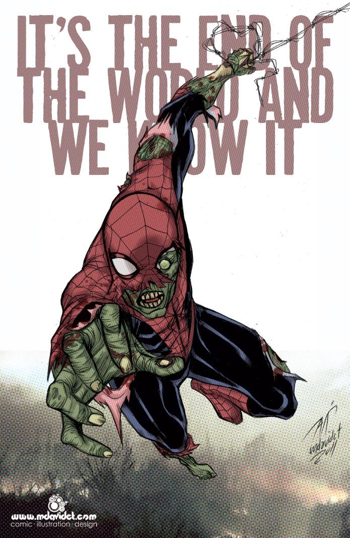 Spiderman Zombie by mdavidct