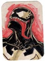 Venom sketch bust by mdavidct