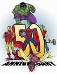 Iron Man Hulk Thor Spidey Ant Man 50 a SDCC s book