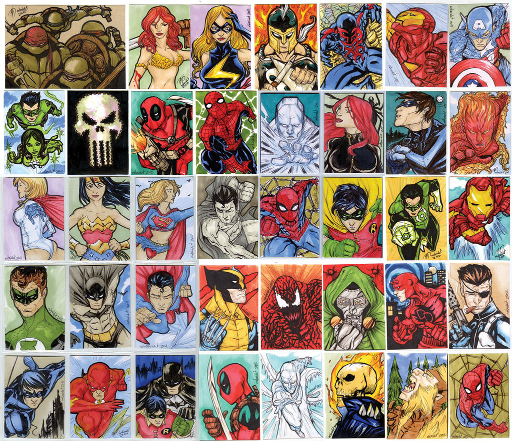 sketch cards comic one by mdavidct fan art cartoons comics traditional ...: mdavidct.deviantart.com/art/SKETCH-CARDS-comic-ONE-353111047