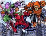 Spiderman vs Hobgoblin and Green Goblin
