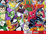 Superior Spiderman 1 Spiderman WEB sketch cover