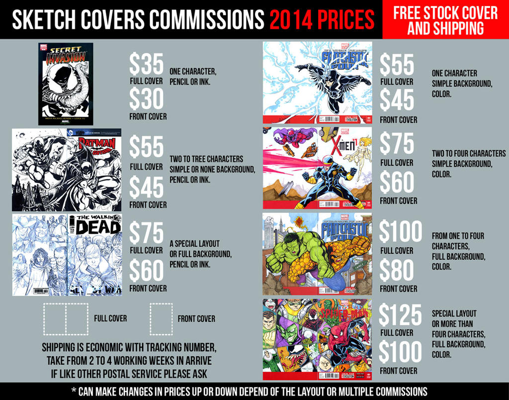 SKETCH COVERS COMMISSION INFO by mdavidct