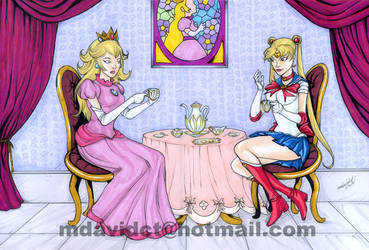 Princess Peach and Sailor Moon tea party by mdavidct