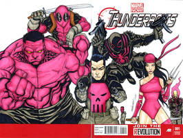 THUNDERBOLTS sketch cover by mdavidct