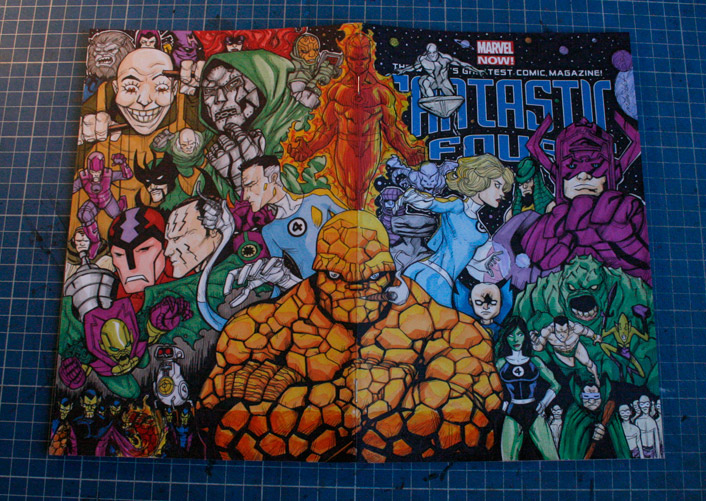 Fantastic Four sketch cover by mdavidct