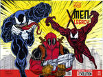 Venom and Carnage vs Deadpool sketch cover