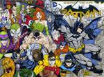 Batman 75 anniversary sketch cover commission