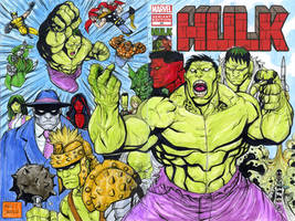 HULK sketch cover commission by mdavidct
