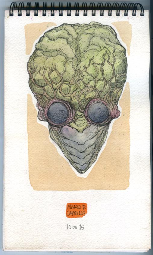 Sketch Monster 10 Metaluna Mutant by mdavidct
