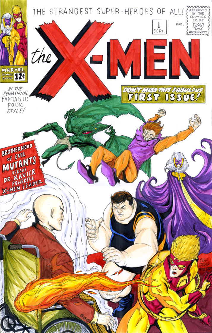 X-men number one recreation by mdavidct