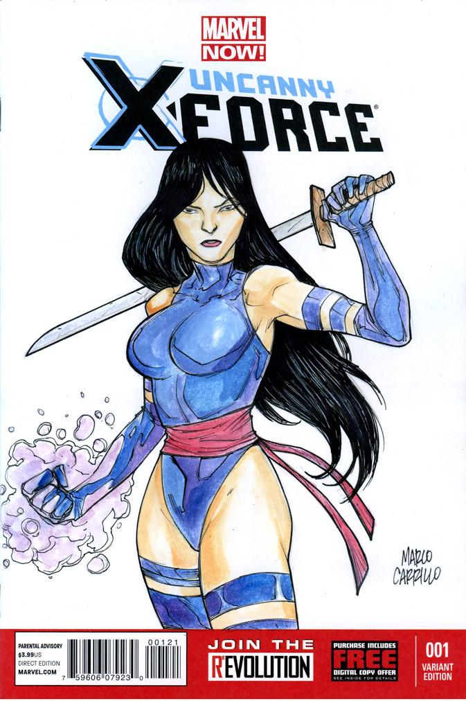 Psylocke sketch cover by mdavidct