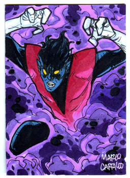 nightcrawler sketch card commission