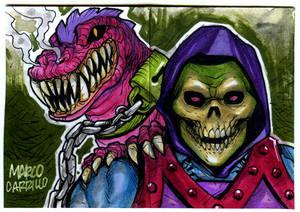 Skeletor Dragon blast sketch card