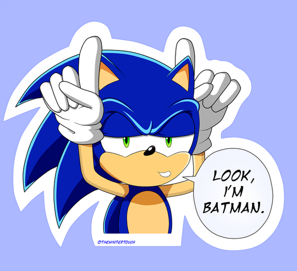 Look im batman sticker by thewintertouch