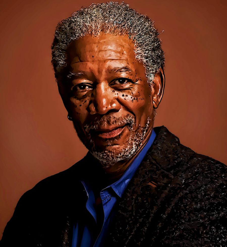 Morgan Freeman Once More by donvito62 on DeviantArt