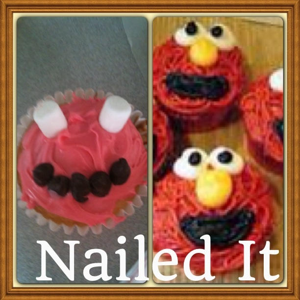 Elmo Cupcake Fail By Irockatlife101 On Deviantart
