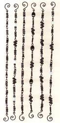 Black Bead Chain Bracelets by ThomEyeDesign