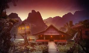 Jungle Village at Dusk