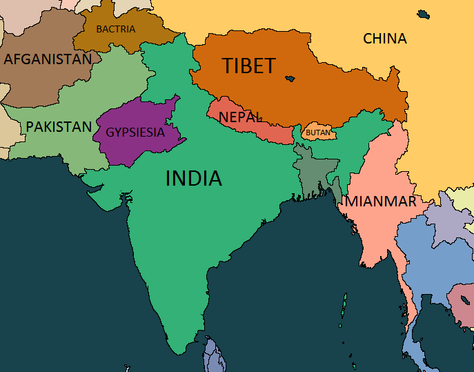 South Of Asia Map.Alternative Map Of South Asia By Kiarasimba On Deviantart