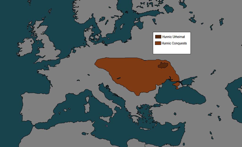 Hunnic empire map by kiarasimba