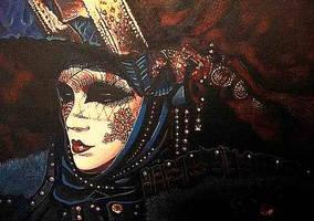 Mask Blue Digital by johnstevensartist