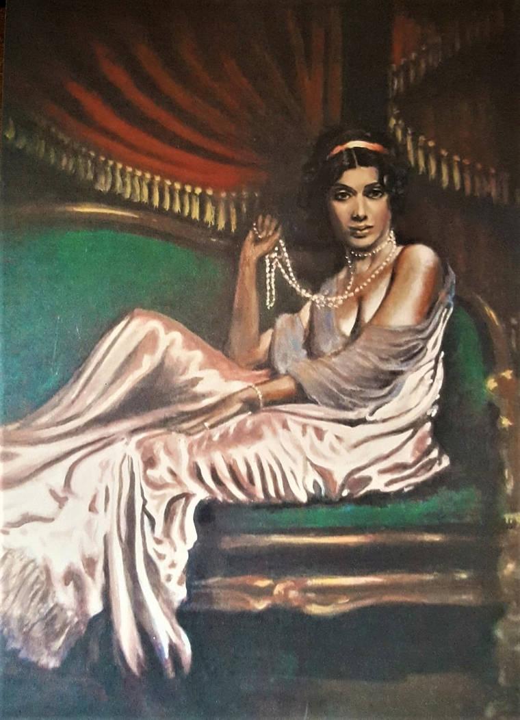Ziegfeld Girl in silk by johnstevensartist