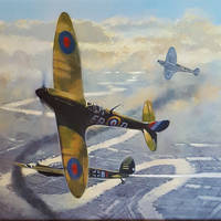 battle of Britain painting for weekend WW2 1940s w