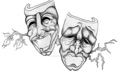 comedy and drama mask tattoo by xstraightedgex23 on deviantart. Black Bedroom Furniture Sets. Home Design Ideas