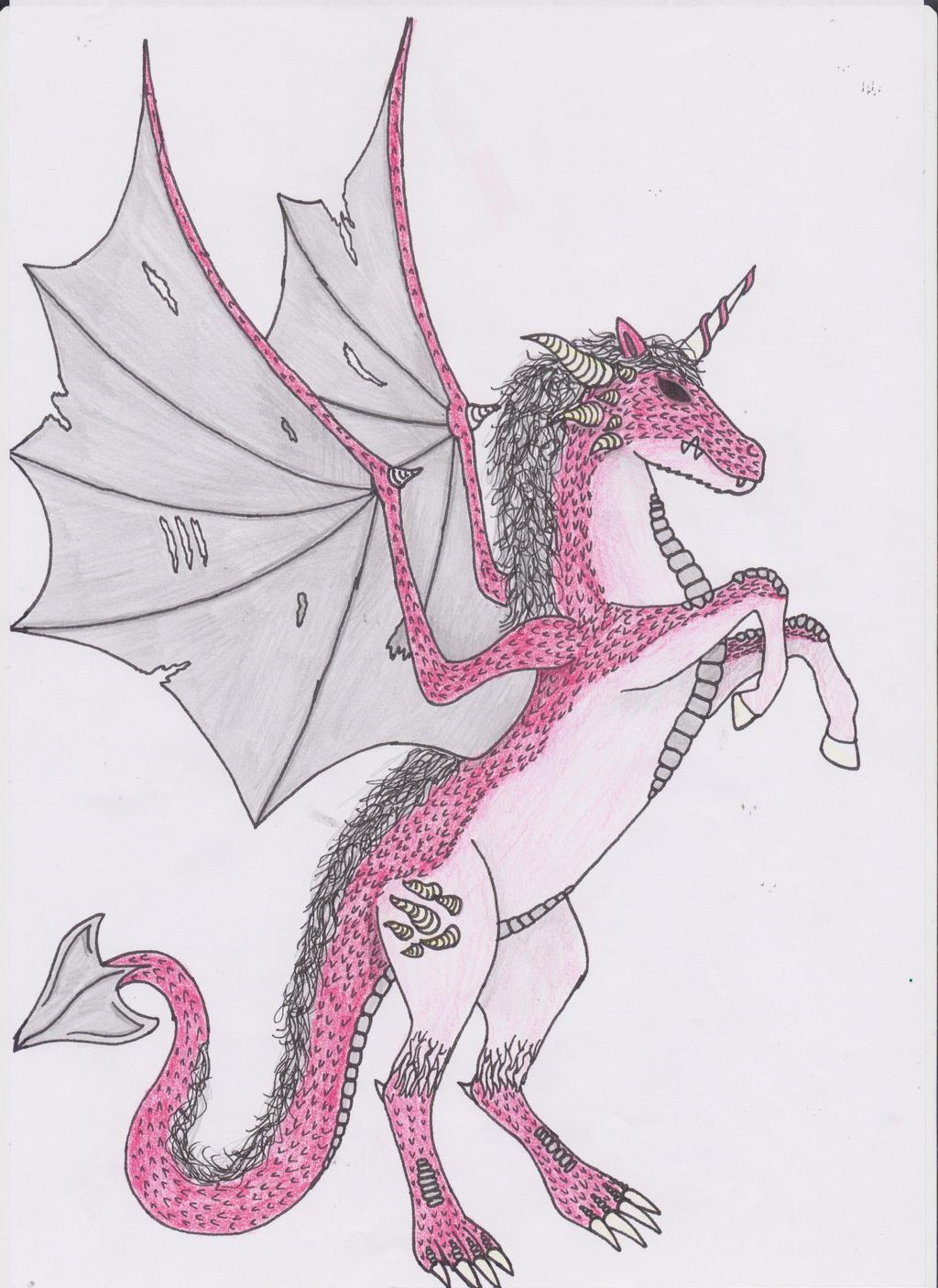 unicorn dragon hybrid by j97keohreiloh on deviantart
