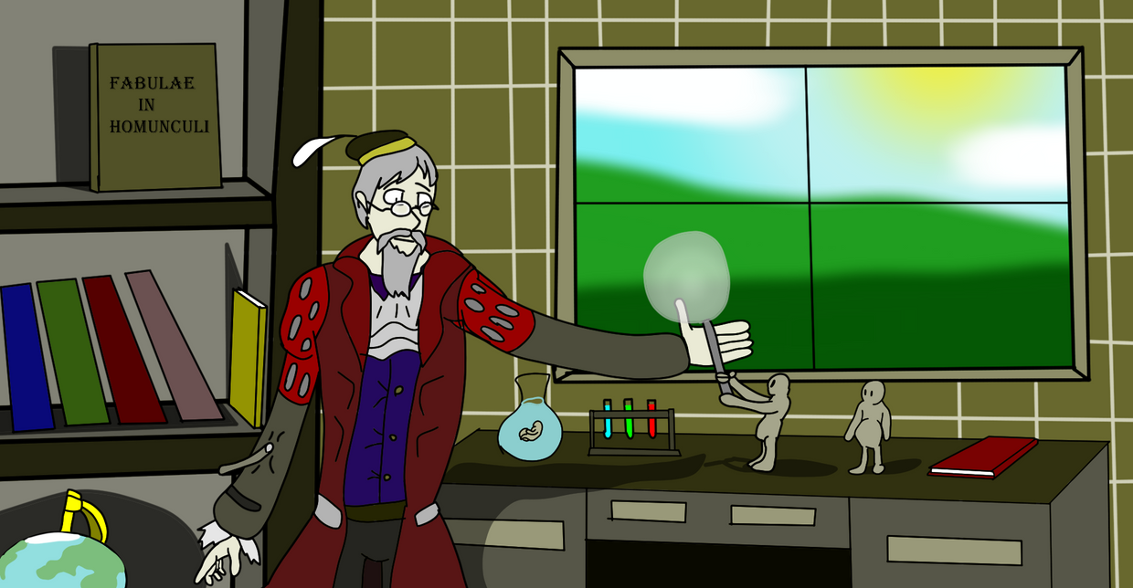 The Alchemist and his Homunculi by MethusulaComics
