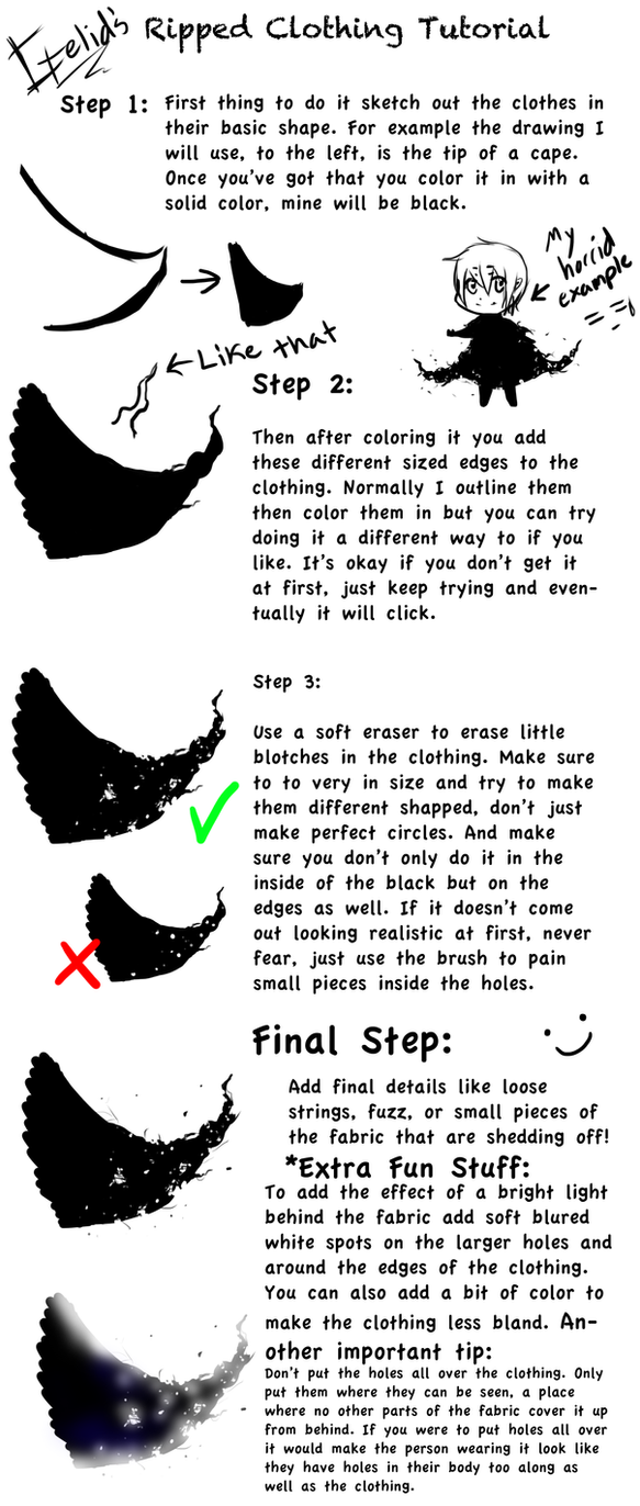 gelid s old ripped clothing tutorial by gelidwolf on deviantart