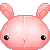Pink Bunny Plush Pixel Icon Head by Gelidwolf